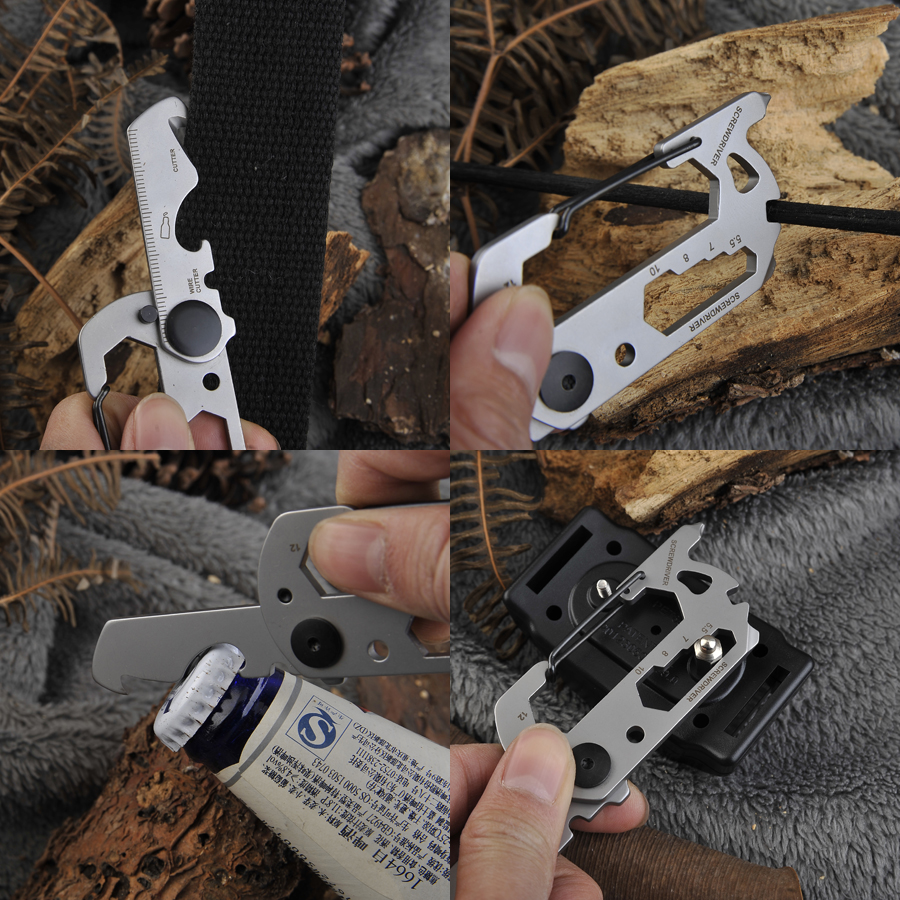 EDC mini portable gadgets multi functional outdoor camping carabiner creative key ring seat belt knife tools in Outdoor Tools from Sports Entertainment