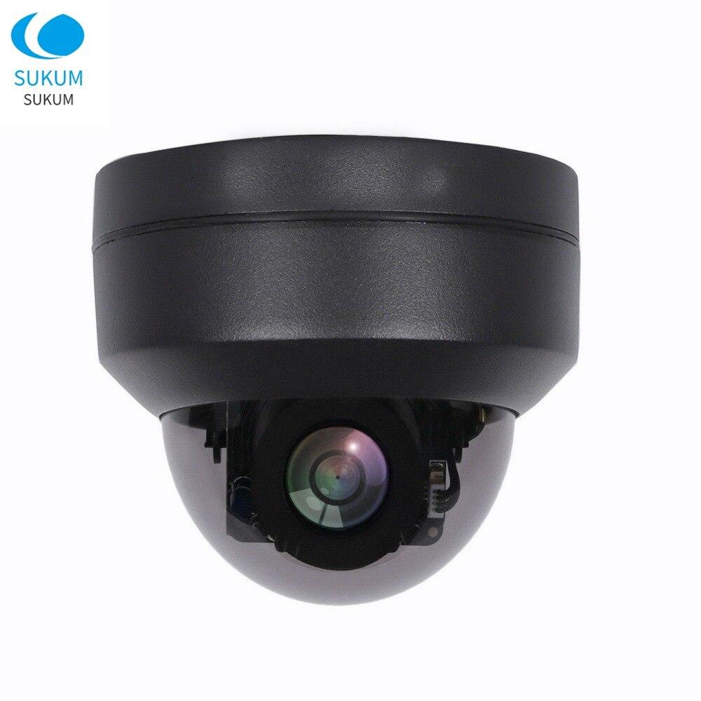 AHD 1080 P MINI dôme PTZ caméra panoramique inclinaison 4X Zoom AHD TVI CVI CVBS 4IN1 2MP jour nuit IR 30 M caméra de Surveillance analogique