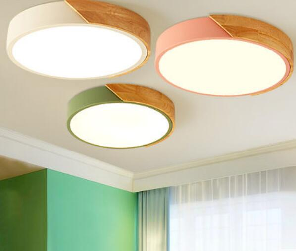 Round led ceiling lamp solid wood macarons children room bedroom lamp simple modern aisle Japanese style lampsRound led ceiling lamp solid wood macarons children room bedroom lamp simple modern aisle Japanese style lamps