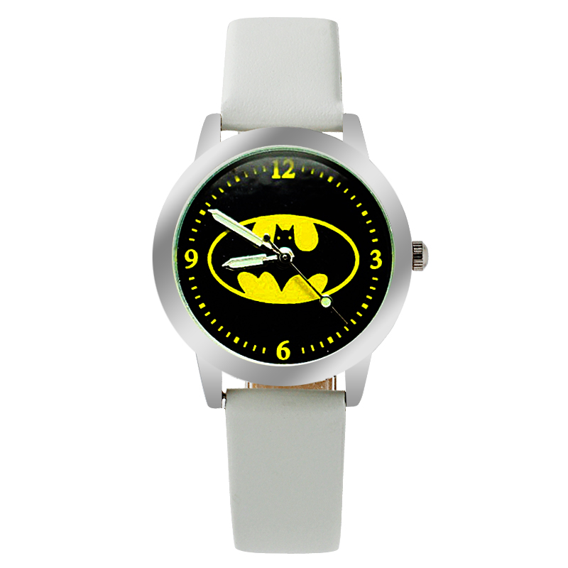 New Batman Design Fashion women dress Analog Wrist quartz Watch Unisex watches women casual watch   Children Watch new fashion design unisex sport watch silicone multi purpose date time electronic wrist calculator boys girls children watch