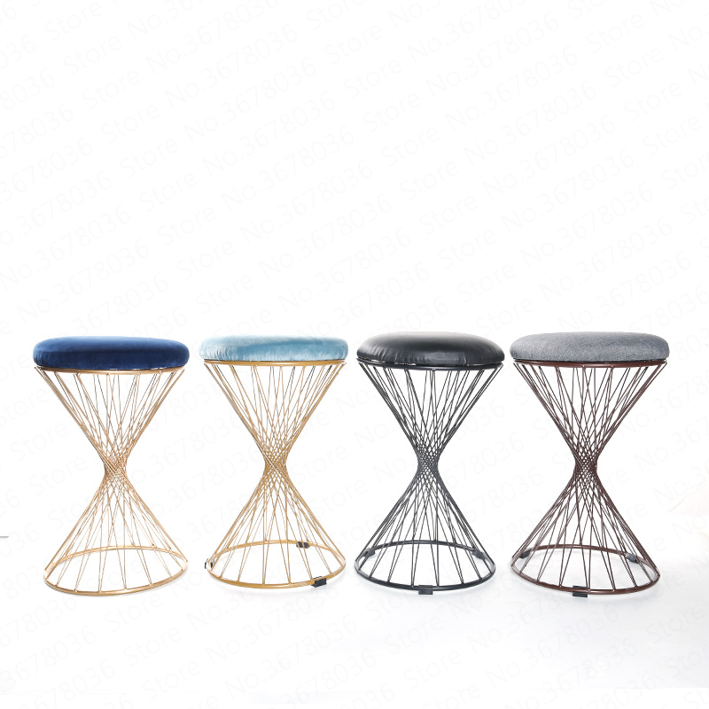 European Fashion Creative Stool Test Shoes Change Shoes Stool Home Ventilation Modern Minimalist Living Room Restaurant Stool(China)