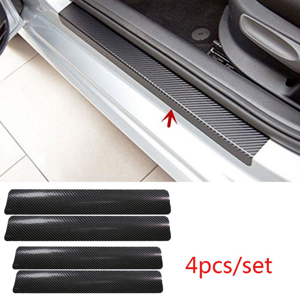 LUCKZHE 4Pcs Carbon Fiber Car Door Protective Film Bowl Door Handle Stickers