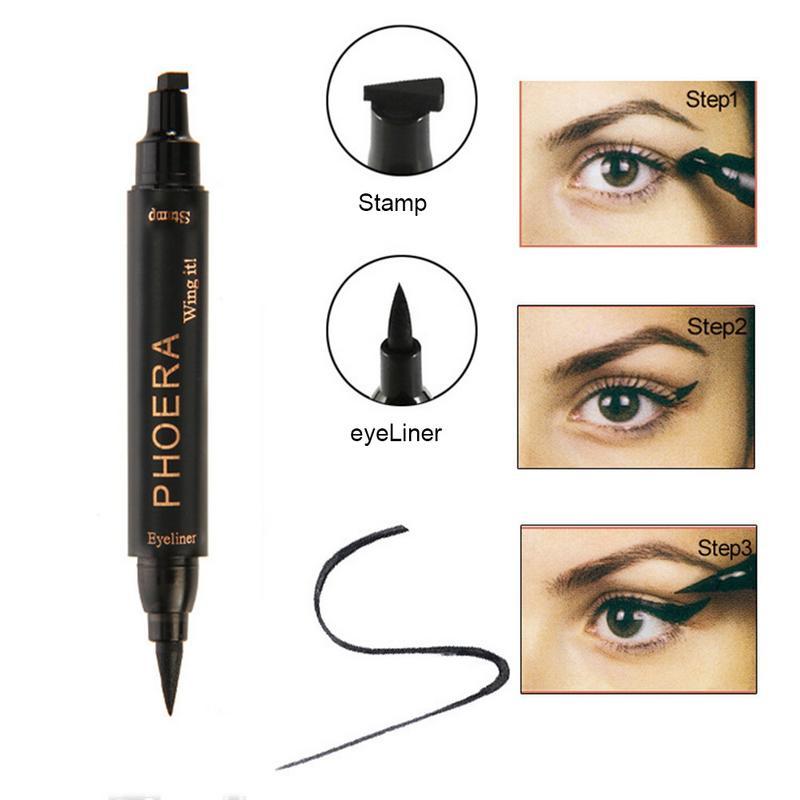 Eyeliner Eye Makeup Tool Double Head Waterproof Seals Long-lasting Eyeliner Black Pencil Eyeliner Profissional Completa Tslm1 Durable Service Back To Search Resultsbeauty & Health