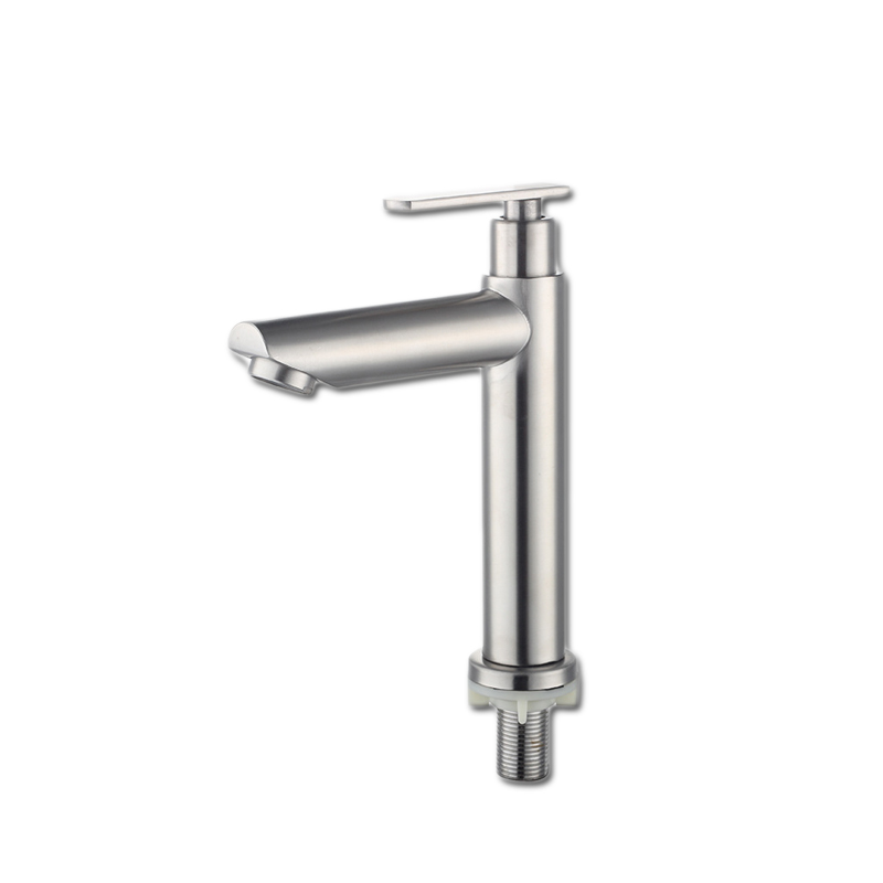 Wholesale and retail cheap Good Quality Sus304 Stainless Steel Brushed Basin Water Tap Faucet for cold water only 1037