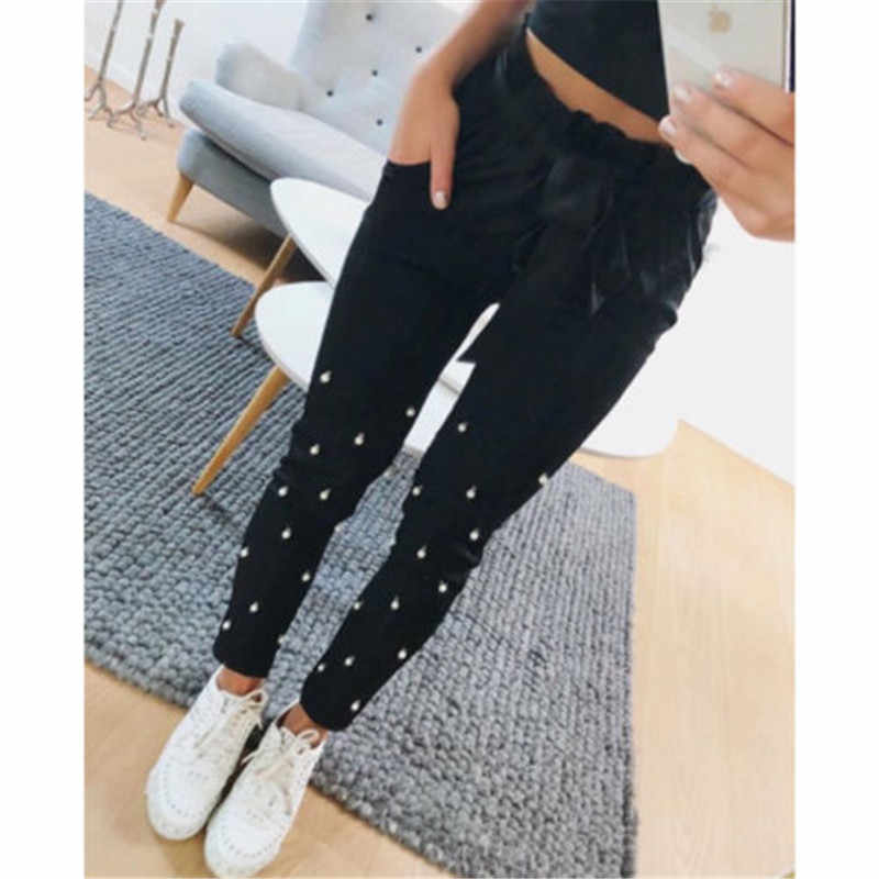 0049524840fc7 ... Ladies women s wear High Waist Leggings Full Length Seamless Slimming  Shapewear Leggy pure color Embroidered Flares ...