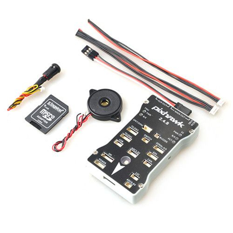 Oyuncaklar ve Hobi Ürünleri'ten Parçalar ve Aksesuarlar'de Pixhawk PX4 PIX 2.4.8 32 Bit uçuş kontrolörü Otopilot 4G SD emniyet anahtarı Buzzer PPM I2C için rc dört pervaneli helikopter'da  Grup 1