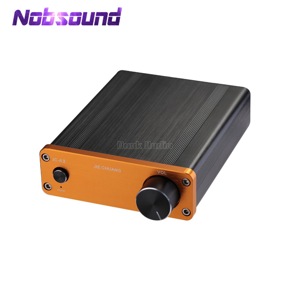 Nobsound Mini Class AB Digital Power Amplifier Desktop HiFi Stereo 2.0 Channel Audio Amp