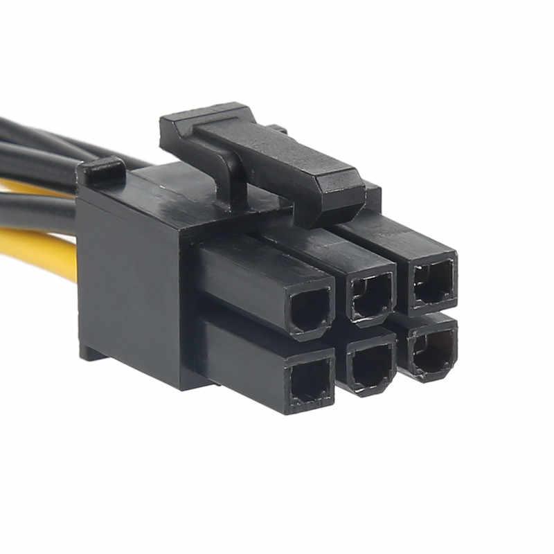 Centechia 20CM czarny 15pin zasilania SATA do 6pin PCIe PCI-e PCI Express kabel adaptera do karty wideo