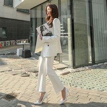 Fashion spring and autumn new professional Slim small suit Set