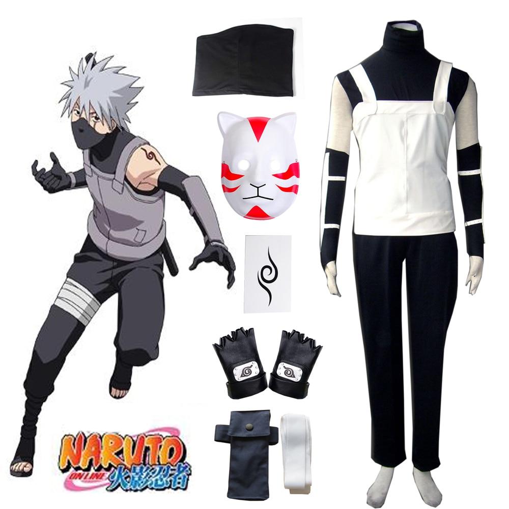 Gratis verzending Naruto Hatake Kakashi Konoha Anbu Uniform Anime - Carnavalskostuums