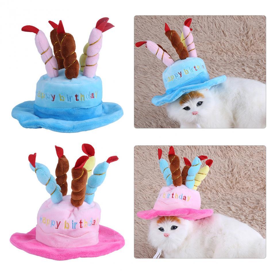 Cute Birthday Cake Caps For Dogs Pet Cat Dog Birthday Caps Winter