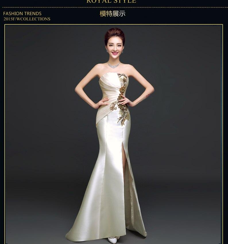 e TK1900 2019 Real picture new Party gowns Long   Evening     dress   cut slide vestido de festa longo com renda abiti da sera robe d