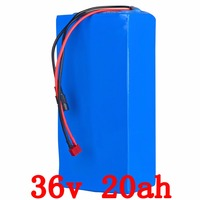 FCC CE ROSH Free TNT Shipping 1pcs Lot 1000W 36V 20Ah Electric Bicycle Battery With PVC