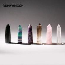 Runyangshi новый продукт все виды натурального кварца драгоценный камень кристалл с кристаллические палочки исцеление только Хрустальная колонна