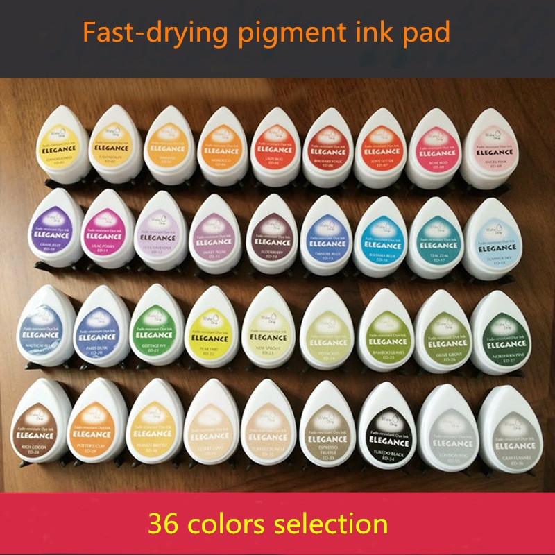 36 colors Tear Drop Ink Pad Stamp Home Decor Acid Free Inkpads scrapbooking