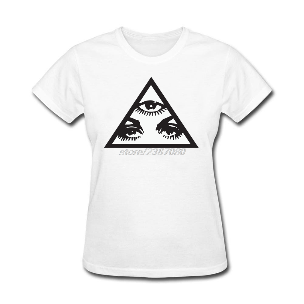 Shirt design white - Girl Triangle Eye Design Unique Shorts Sleeve Tee Shirts Round Collar Humorous T Shirts Adult T