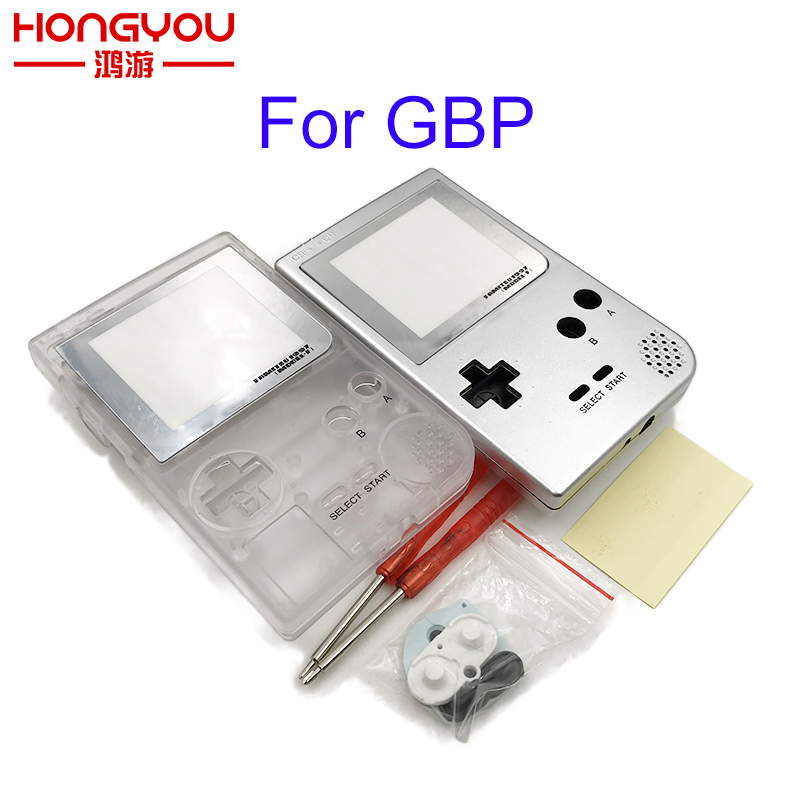 Full Case Cover Housing Shell Replacement For Gameboy Pocket Game Console for GBP Shell Case with Buttons Kit game boy