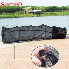 Sougayilang 5 Layers 1.5m Folding Fishing Net Stake  Fish Care Creel Fishing Tackle Foldable Fishing Net