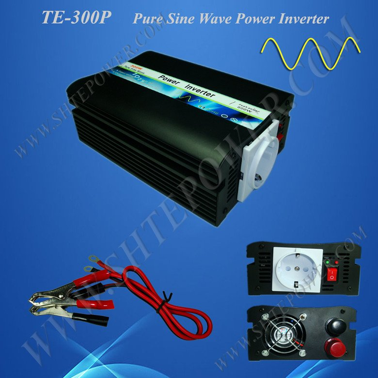 цена на Power inverter DC 12v to AC 230v, 300w pure sine wave power inverter, CE&RoHS Approved