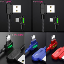 MCDODO USB Type C 90 Fast Charging usb c cable Type-c Data Cord Android Charger usb-c Micro USB Cable For Samsung S8 S9 Note 8