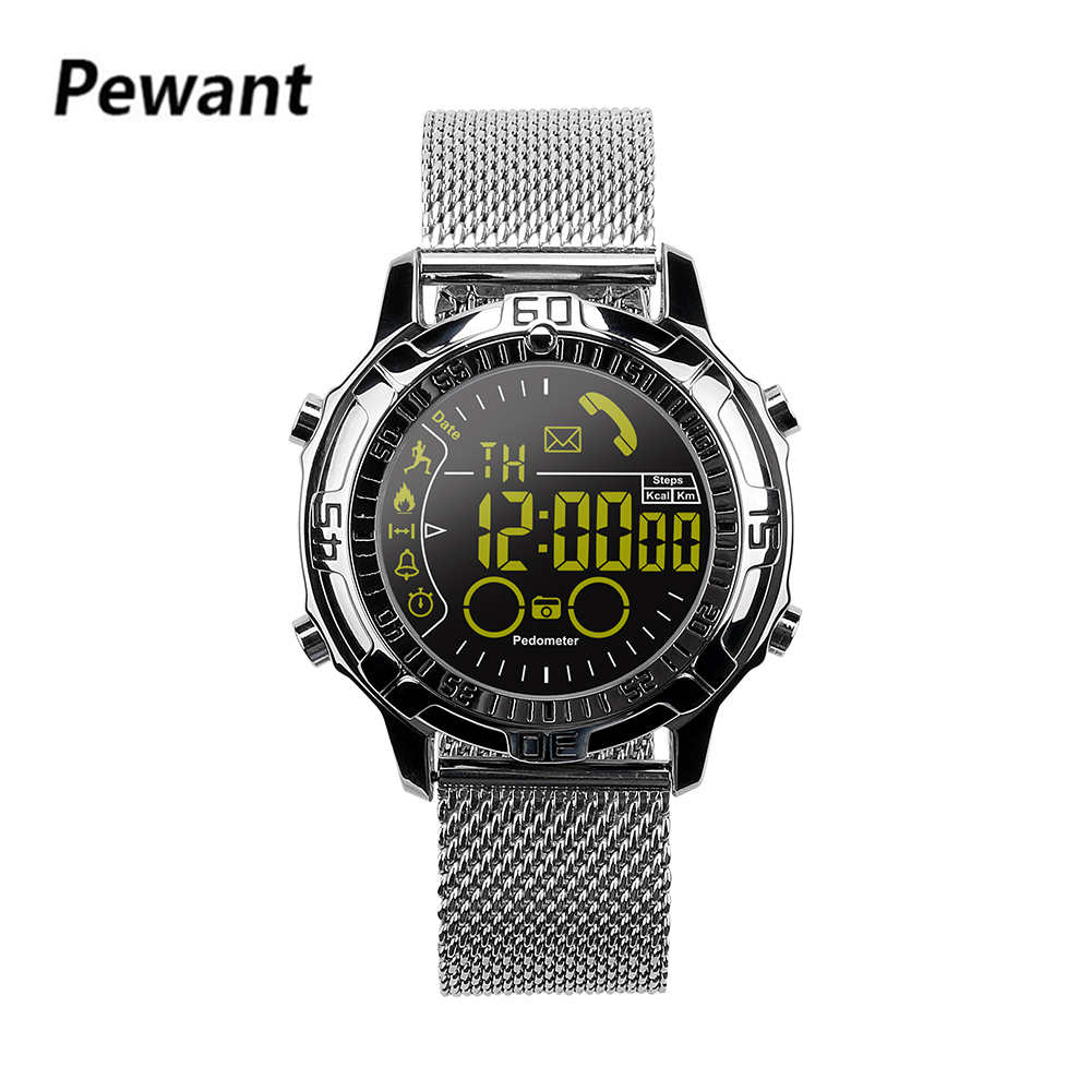 Pewant Outdoor Sports Smart Watch Touchscreen Smartwatch For Men Step Counting Burn Calories Wristwatch For Android iOS Phone