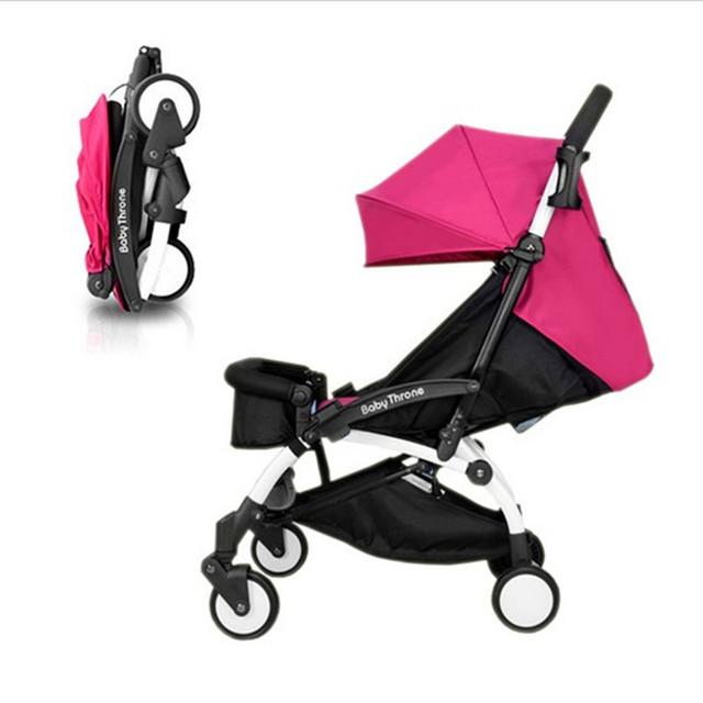 Super portátil carrinho de criança pode sentar e atualizados capítulo 4 suspensão de roda de carro