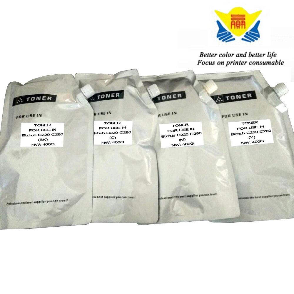 Jianyingchen Appropriate Shade Toner Powder For Konica Minolta C220 C280 (4Bags/lot) 400G Per Bag Free Delivery Unique
