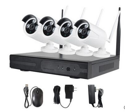 Home Security 4 Channel CCTV NVR KIT 720P Wireless IP Camera System 4ch Linux Network video recorder P2P ONVIF HDMI