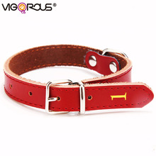 Leather Dog Collars for Small Large Dogs Genuine Leather Solid Dog-Collar for Cats Collar Pet Products Puppy Chihuahua JW0030