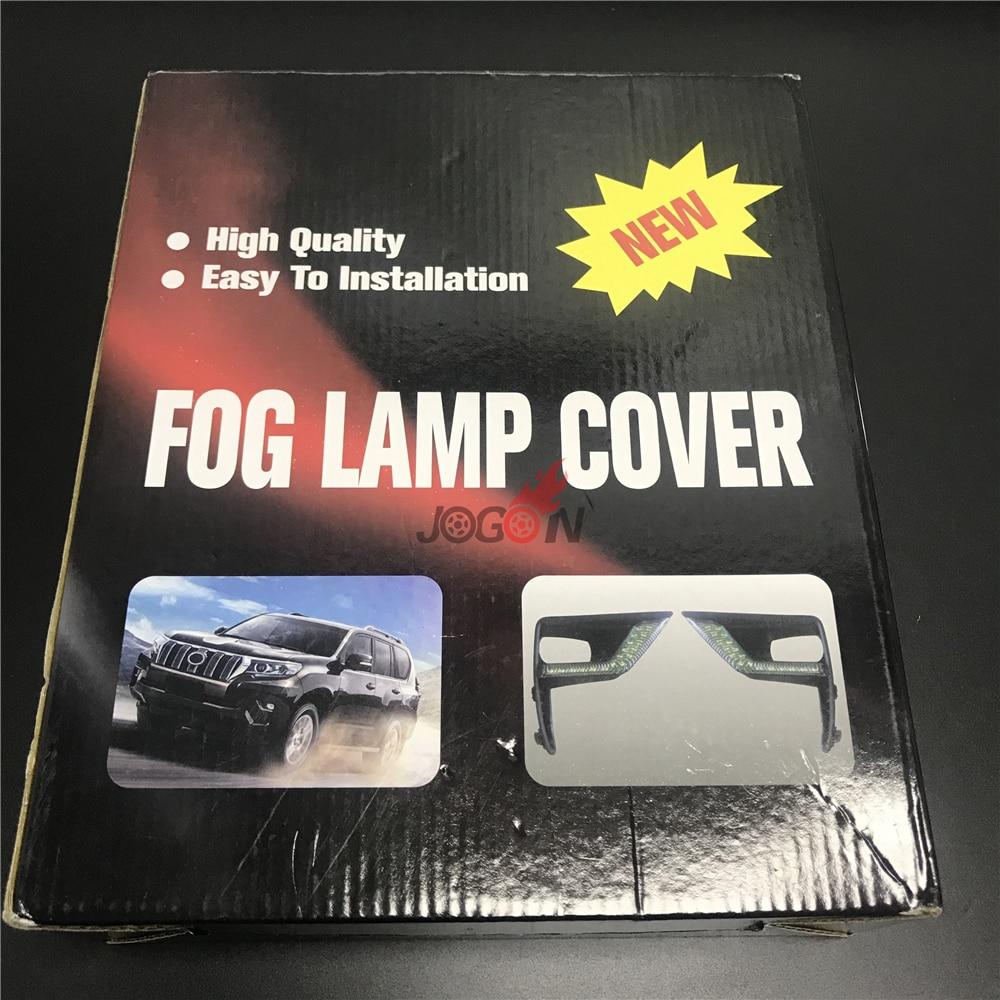 Car LED Daytime Running Light For Toyota Land Cruiser FJ150 2018 DRL Fog Lamp Assembly
