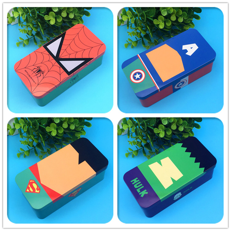Creative super hero pencil Case dog pen bag tin box school office supplies high quality cute kawaii birthday gift 002 micropore surgical tape tan 1 x 10 yards box of 12