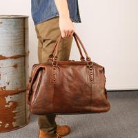 Пояса из натуральной кожи для мужчин дорожные сумки ночь вещевой мешок большой ёмкость бизнес выходные Tote плеча Crossbody Кошелек коричневы