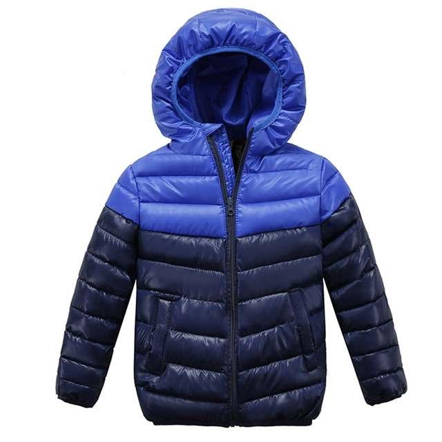2b04668f5e91 Boys Blue winter coats   Jacket kids Zipper jackets Boys thick Winter jacket  high quality Boy