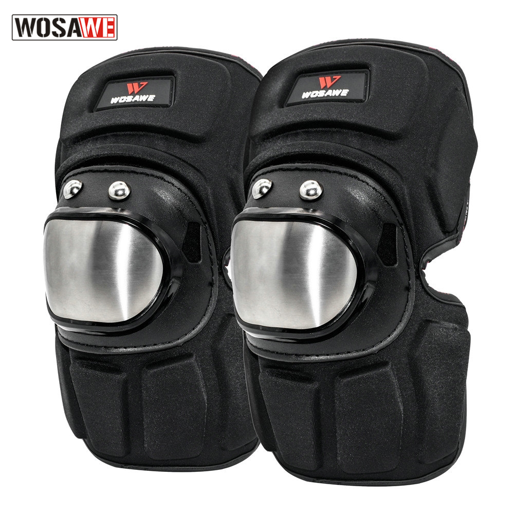 WOSAWE Motorcycle Knee Protector Guard Motocross Knee Protector Protective Gear Motorbike Safety Gears Race Brace Protection