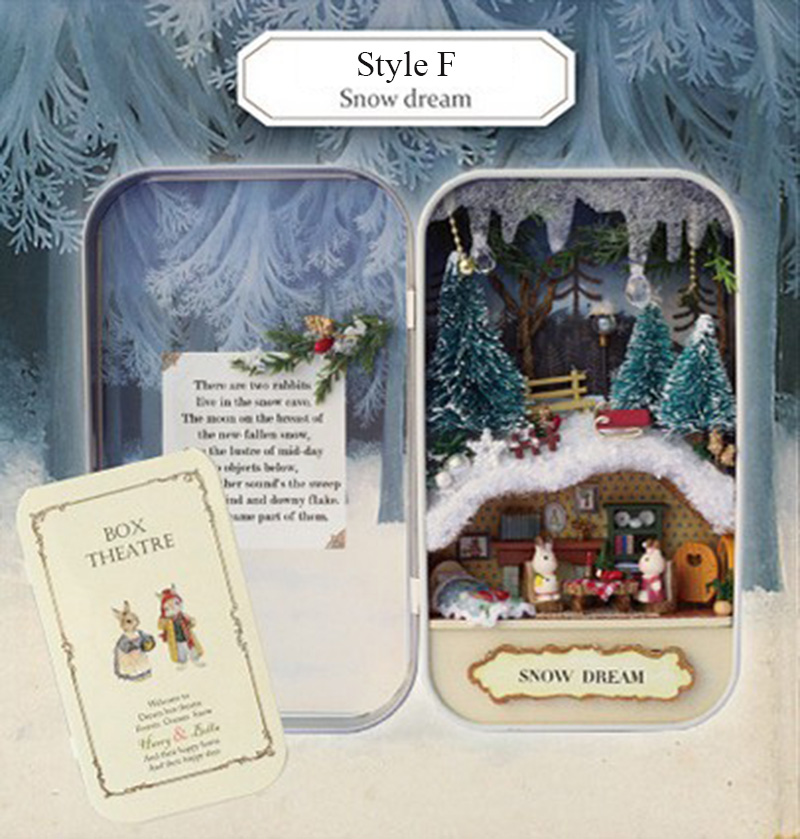Snow Dream Box Theatre DollHouse