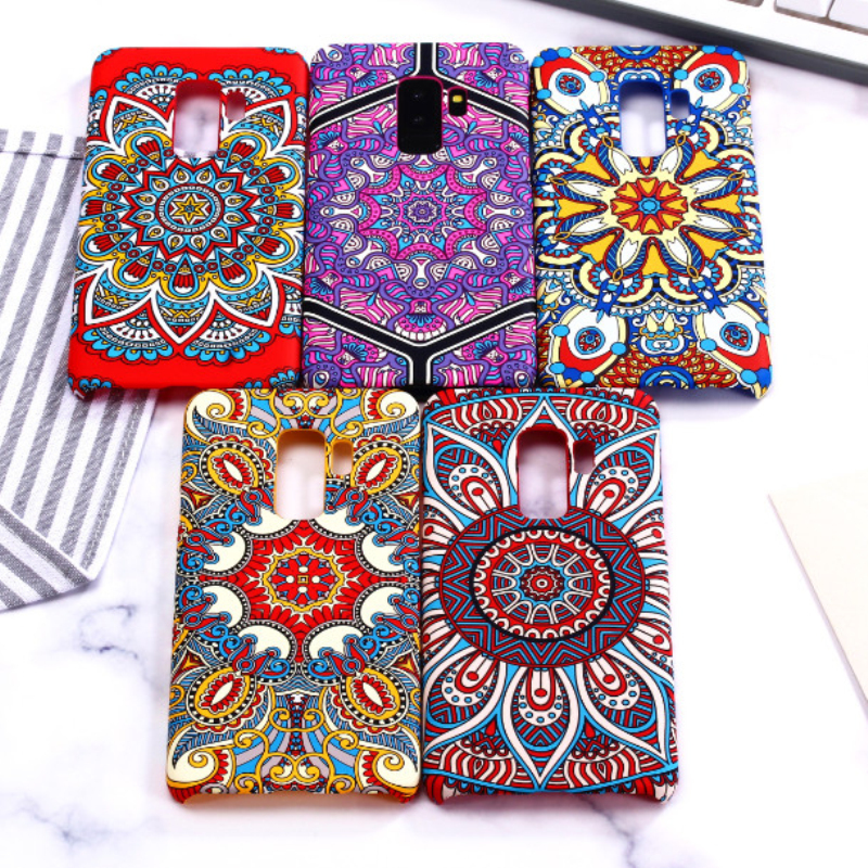 For Samsung Galaxy S9 Plus case, 3D Relief painting Hard PC back cover case for Samsung Galaxy S9