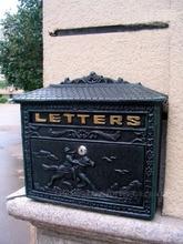 Литой Алюминий почтовый ящик под старину металла настенное крепление Postbox Post буквами поле дома сада Открытый Декор страна Бесплатная доставка