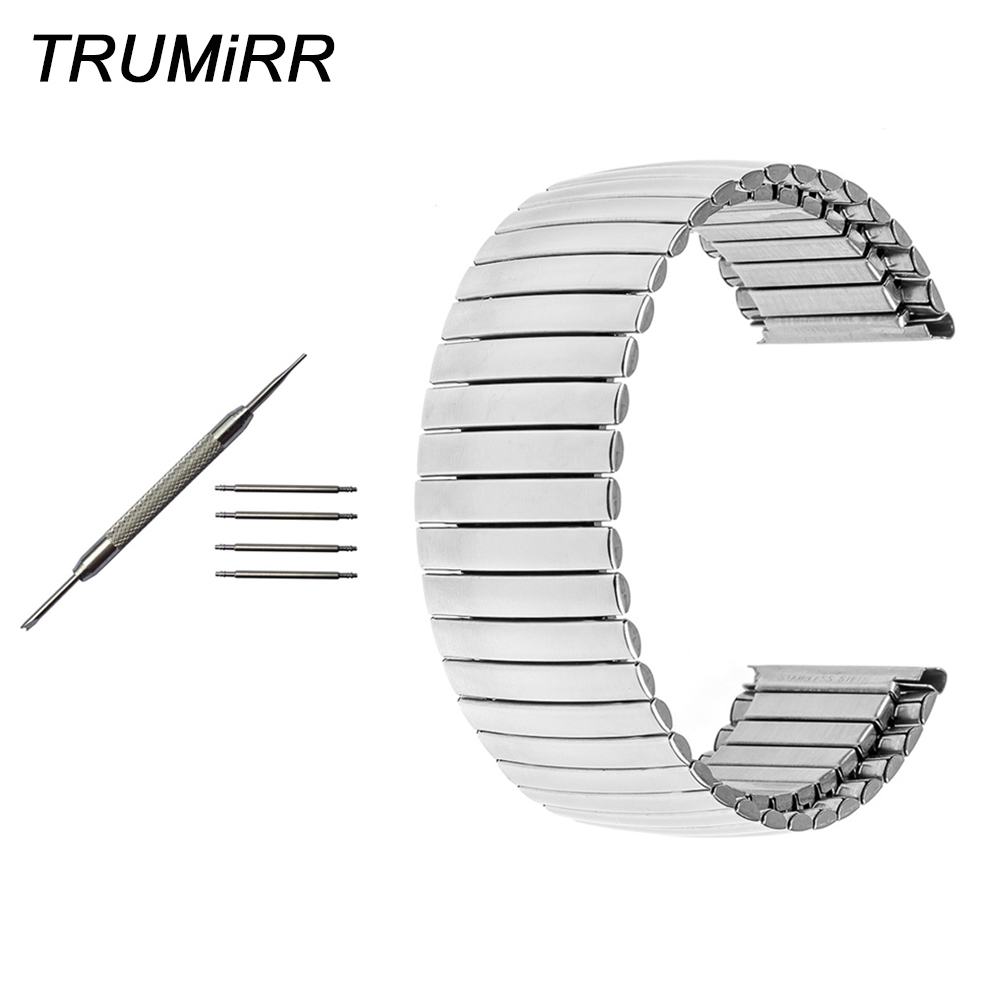 Stainless Steel Watch Band Elastic Strap for Tissot T035 T050 <font><b>PRC200</b></font> T055 T097 T099 Wrist Belt Bracelet 16mm 18mm 20mm 22mm 24mm image