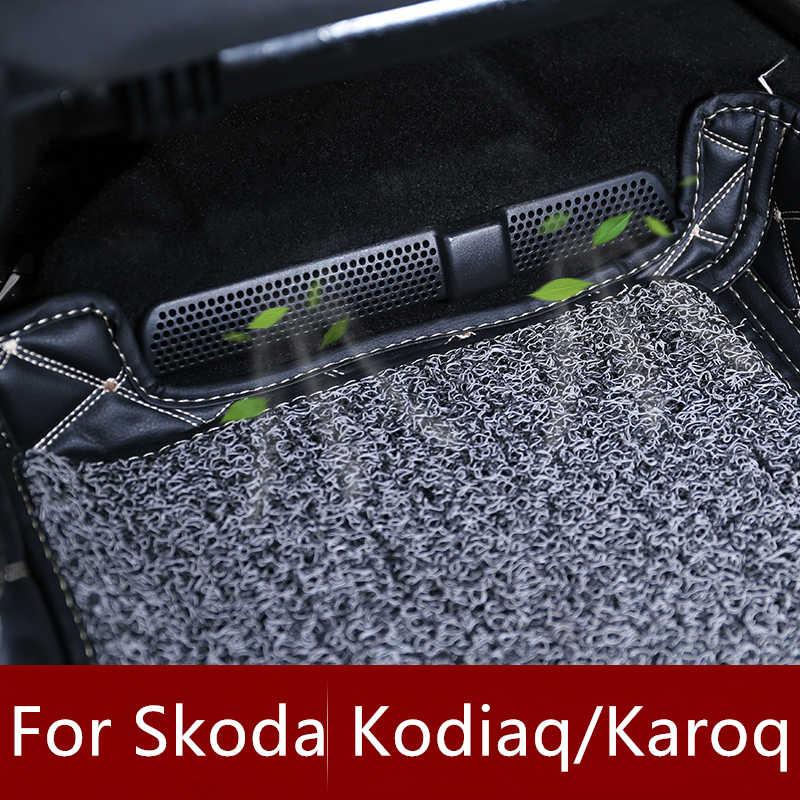 Tapa de salida de aire para coche 2 uds para Skoda Karoq Kodiaq 2016 2017 2018 asiento trasero bajo cubierta de ventilación de aire acondicionado del asiento trasero del coche
