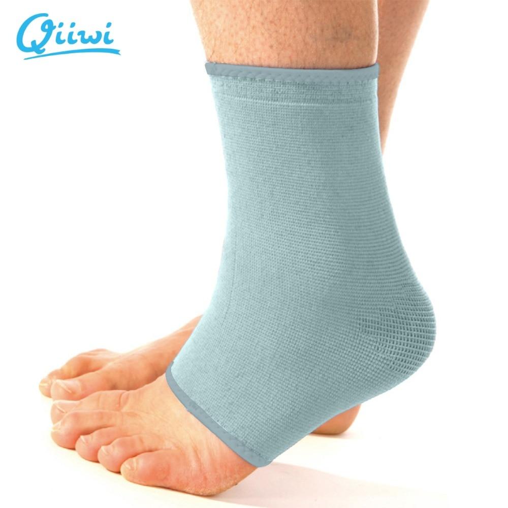 Qiiwi magas minőségű elasztikus boka lábtámaszok heveder zárójelekkel sport védő kötszer futball boka támogatás ingyenes szállítás