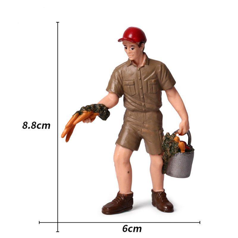 Premium New Hot sale 1:25 Scale Farm Human Figure Worker Model Resin Miniature 3.5in-2.8in