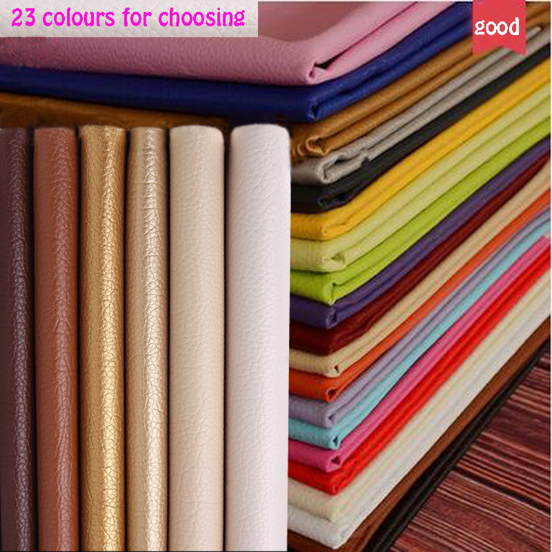 God 69 * 50cm 1pc PU Leather Faux Leather Fabric for Sying, Kunstig Syntetisk Pu Faux Leather Fabric for Sofa Diy Bag Materiale