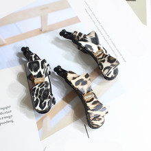 New Sexy Leopard Pattern cortex Hairpins Acrylic Banana Clip Women Girls Barrettes Hair Accessories Ponytail holder