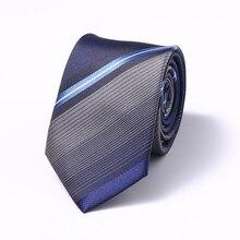 Blue striped Tie 7cm Snowman Ties For Christmas Day Mens & Green Men shirt acessories Necktie Santa Claus Neck Slim