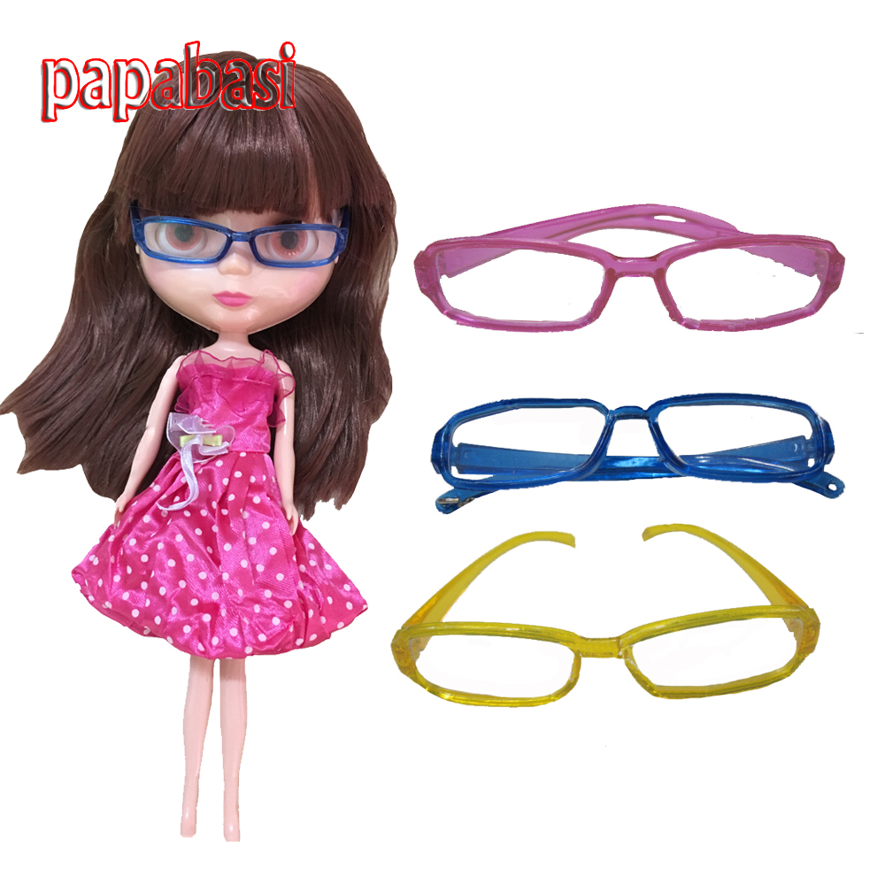 1pcs Fashion Doll accessories DIY Glasses  for 1 / 6 BJD Blyth Doll Free shipping doll accessories fashion socks variety of multi color for 1 6 1 4 1 3 bjd doll