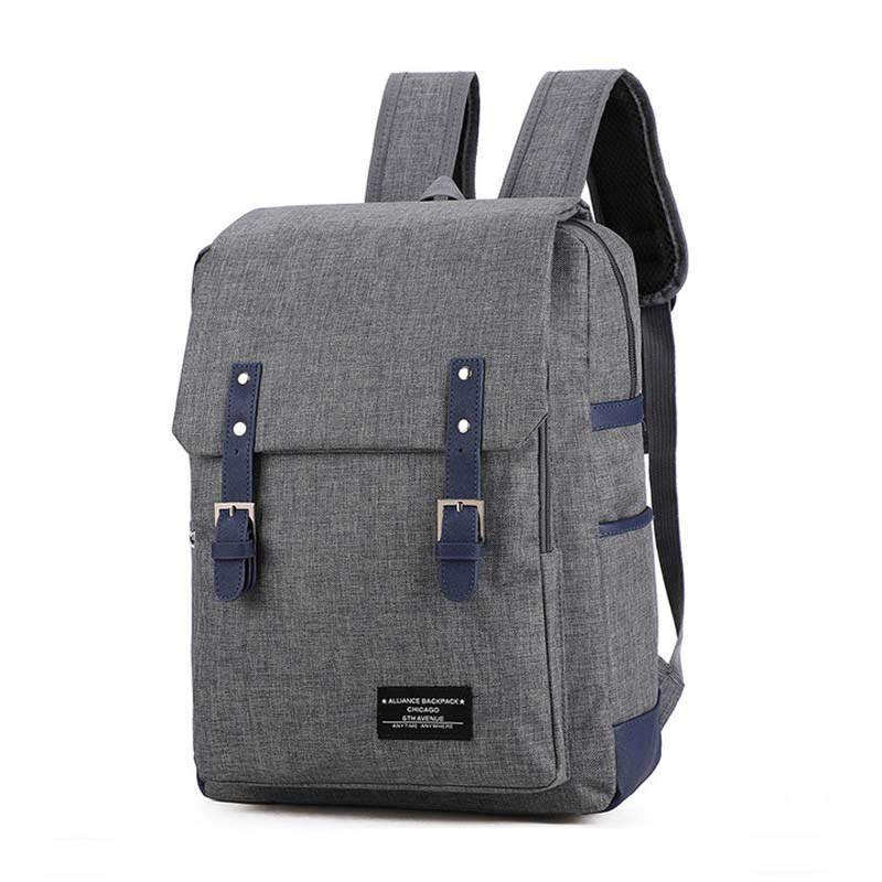 Men s New Canvas Backpack Male Fashion Leisure Urban School Bag 15 6 inch Big Capacity