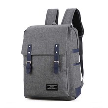 Men's New Canvas Backpack Male Fashion Leisure Urban School Bag 15.6 inch Big Capacity Laptop Rucksack Blue Green Travel Bagpack