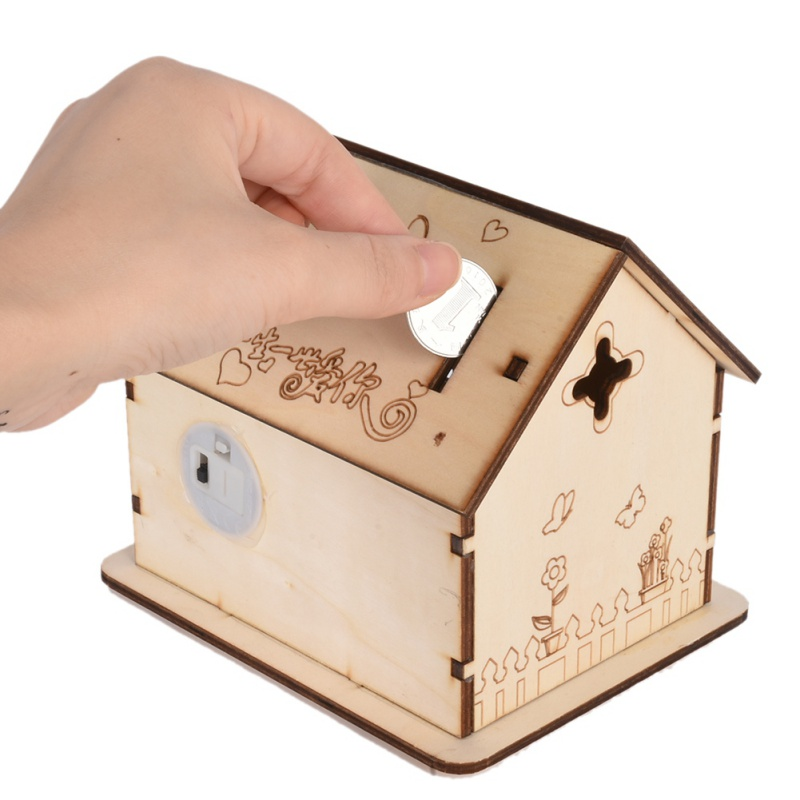 Aliexpress.com : Buy Modern LED Lighted fairy house Wood Money Boxes Craft  Home Decoration Wooden money Box Safe from Reliable money box suppliers on  Pet ...