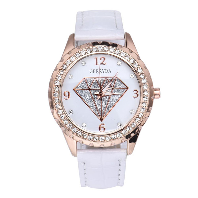 2018 Hot Sell Fashion Ladies Quartz Watch Brand Dress Women's Leather Strap Wome