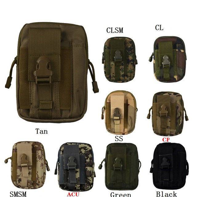 3pcs Tactical Molle Pouch Military Waist Bag Outdoor Safety Survival Bags Phone Case Pocket